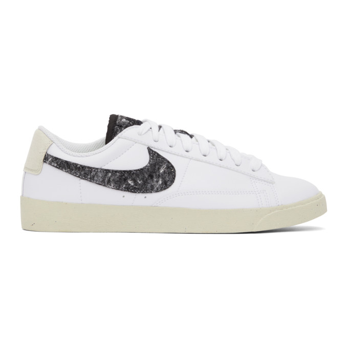 Nike White & Grey Blazer Low SE Sneakers