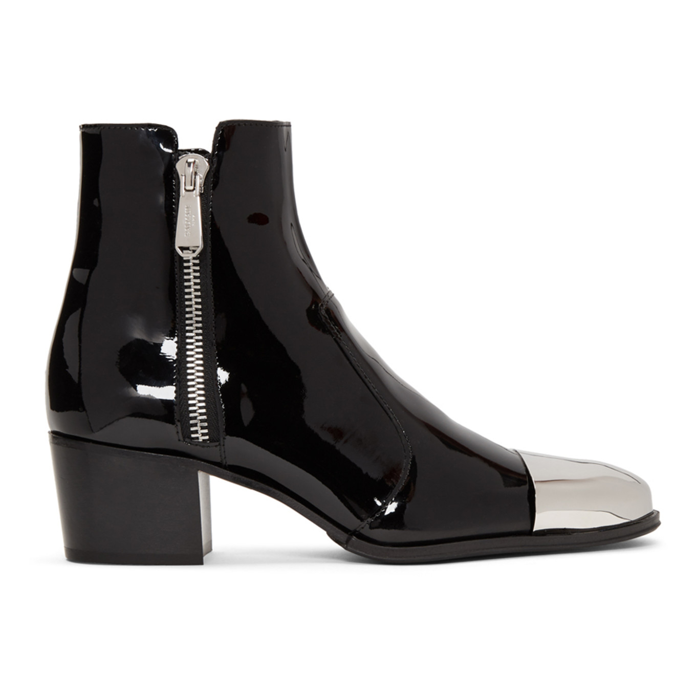Black Patent Karen Ankle Boots by Balmain