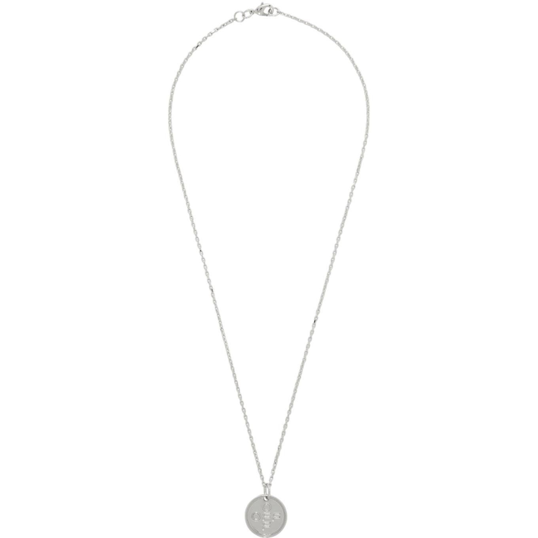 シルバー スモール ロゴ クロス ネックレス