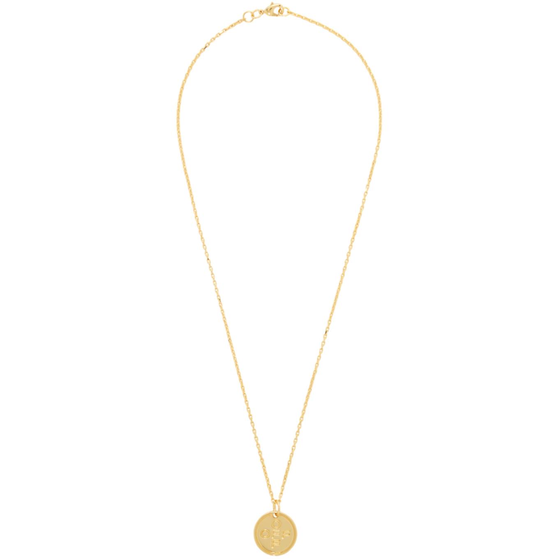 ゴールド スモール ロゴ クロス ネックレス