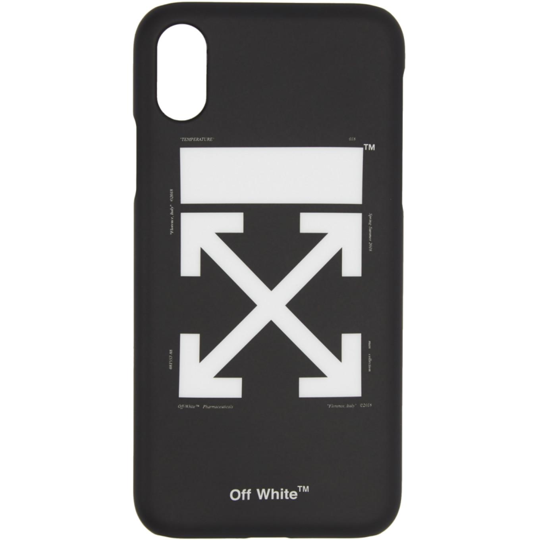 ブラック & ホワイト アロー キャリー OV iPhone X ケース