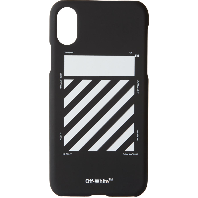 ブラック & ホワイト ダイアゴナル iPhone X ケース