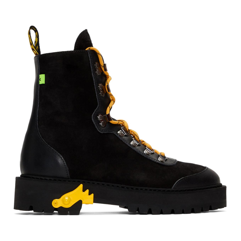 ブラック & イエロー ハイキング ブーツ