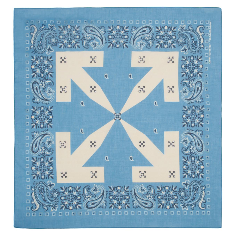 ブルー バンダナ スカーフ