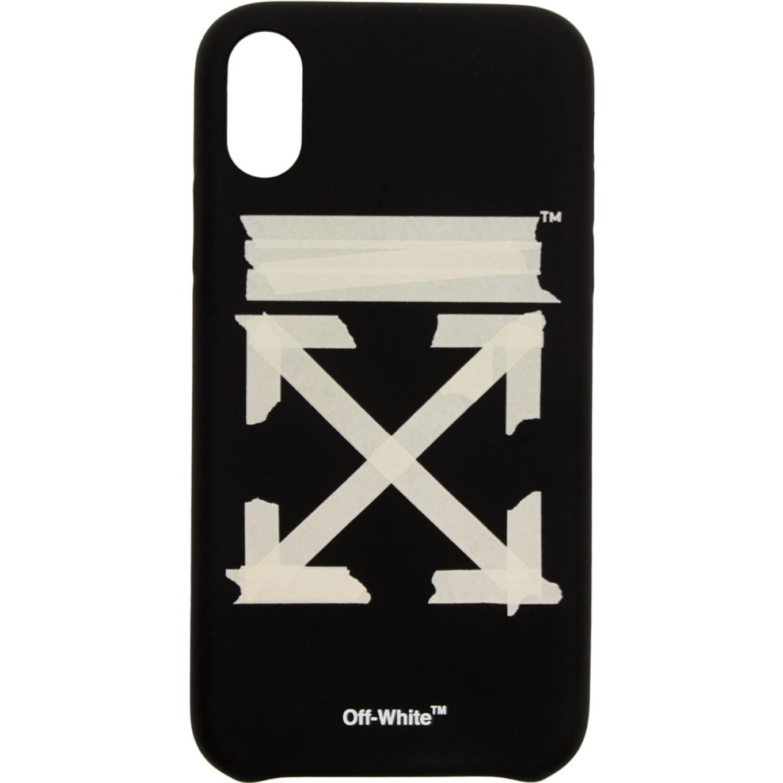 ブラック & ベージュ テープ アロー iPhone XR ケース