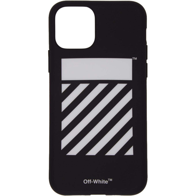 SSENSE 限定 ブラック & ホワイト ダイアゴナル iPhone 11 ケース