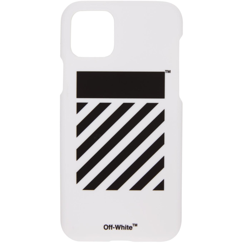 SSENSE 限定 ホワイト ダイアゴナル iPhone 11 Pro ケース