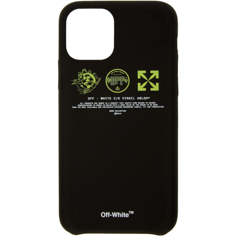 ブラック & イエロー マルチ シンボル iPhone 11 Pro ケース