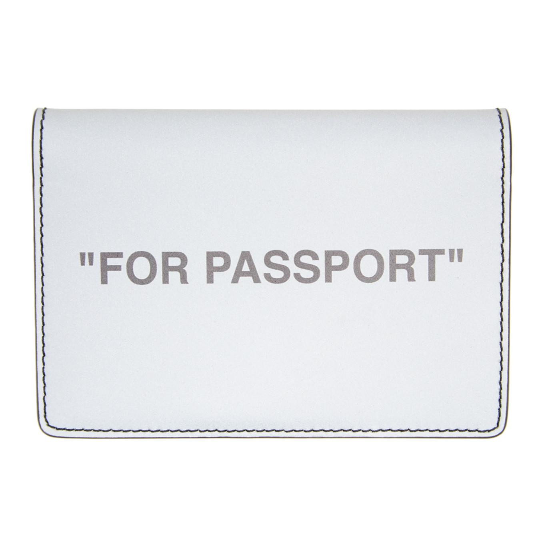 シルバー クォート パスポート ホルダー