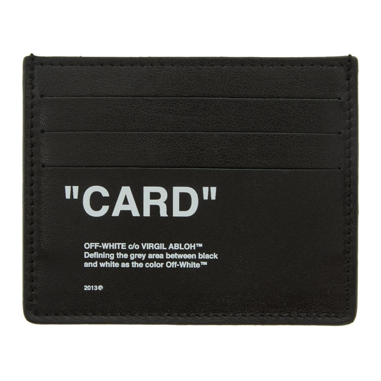 SSENSE 限定 ブラック & ホワイト クォート カード ホルダー