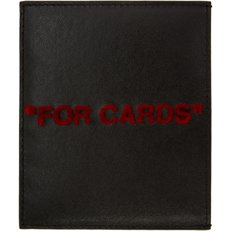 ブラック & レッド クォート カード ホルダー