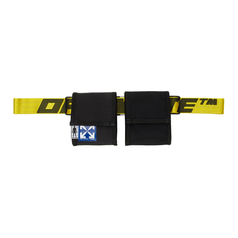 ブラック & イエロー 2 ポケット ファニー パック