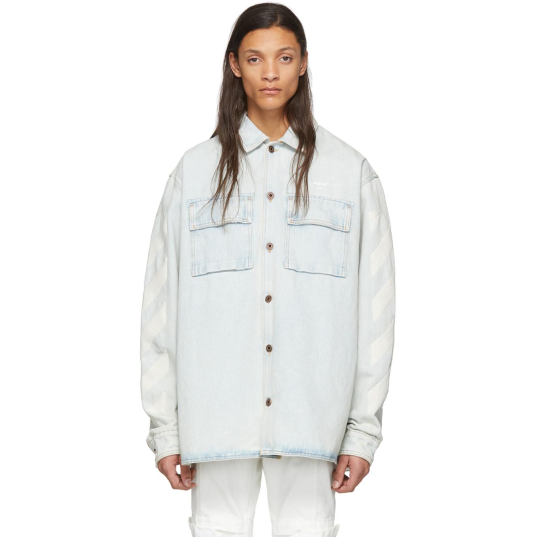 ブルー デニム Diag オーバーサイズ シャツ