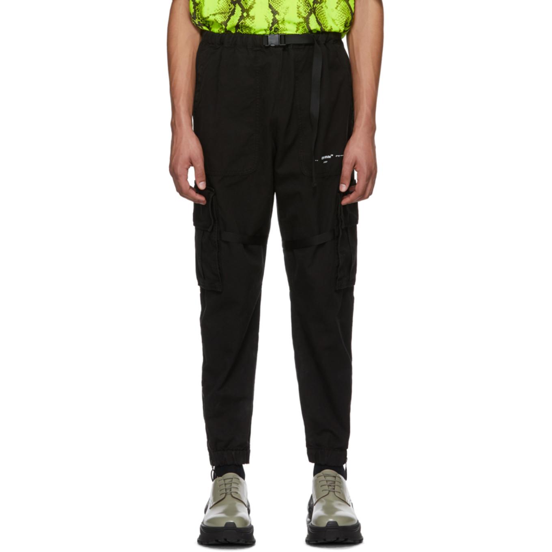 ブラック Parachute カーゴ パンツ