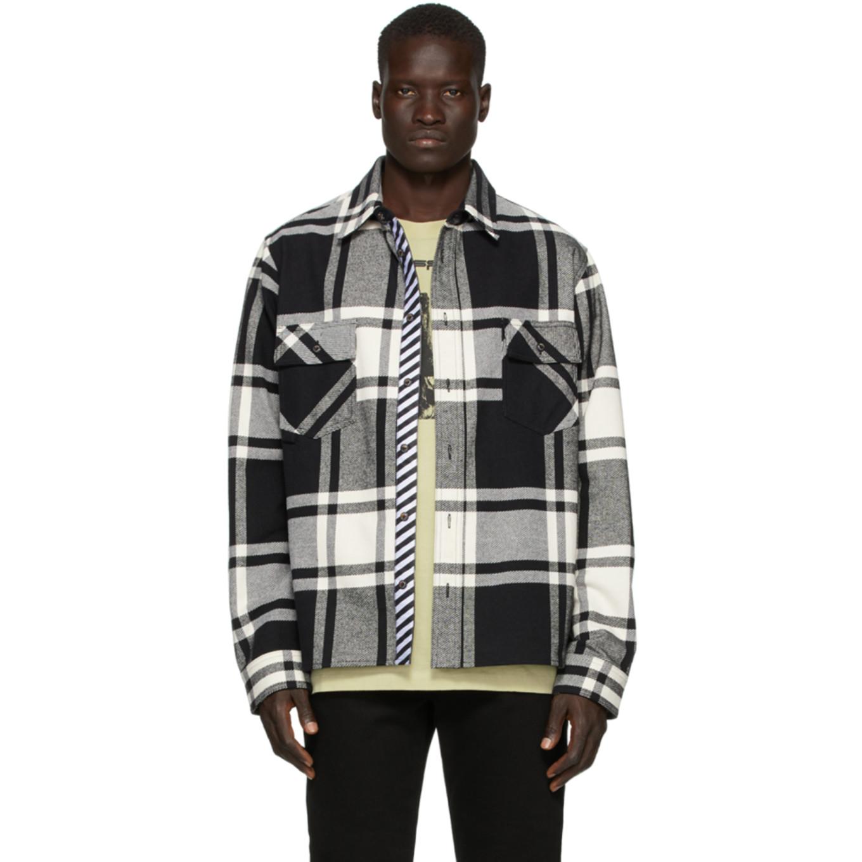 SSENSE 限定 ホワイト & ブラック ステンシル シャツ