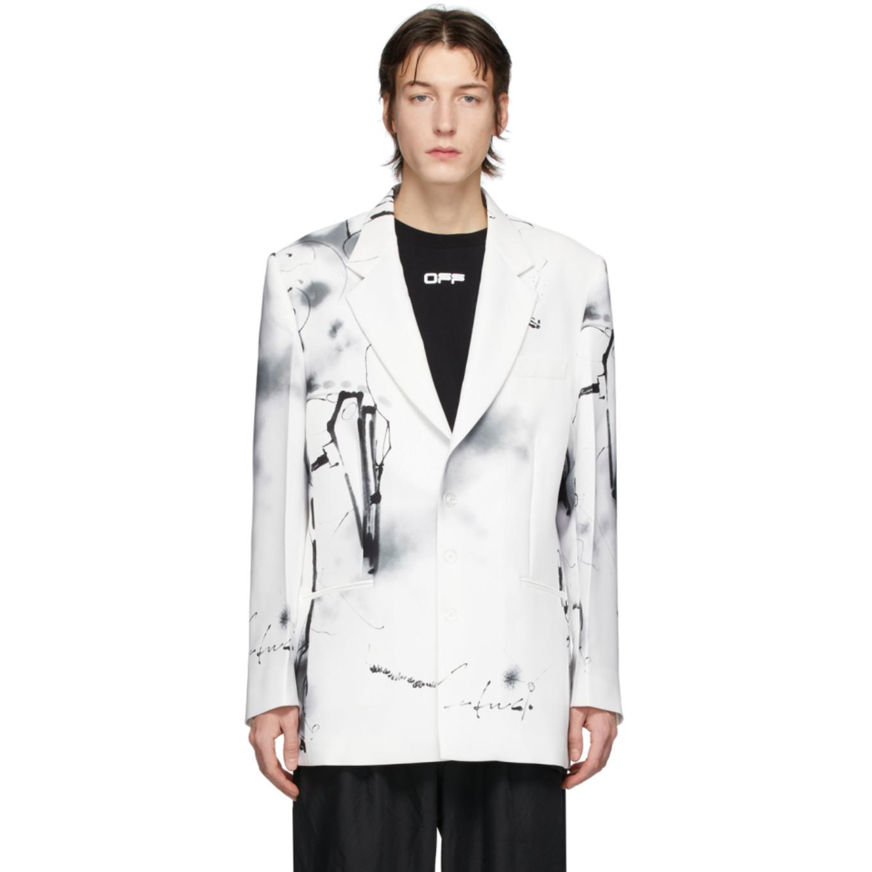 ホワイト Futura Abstract ブレザー