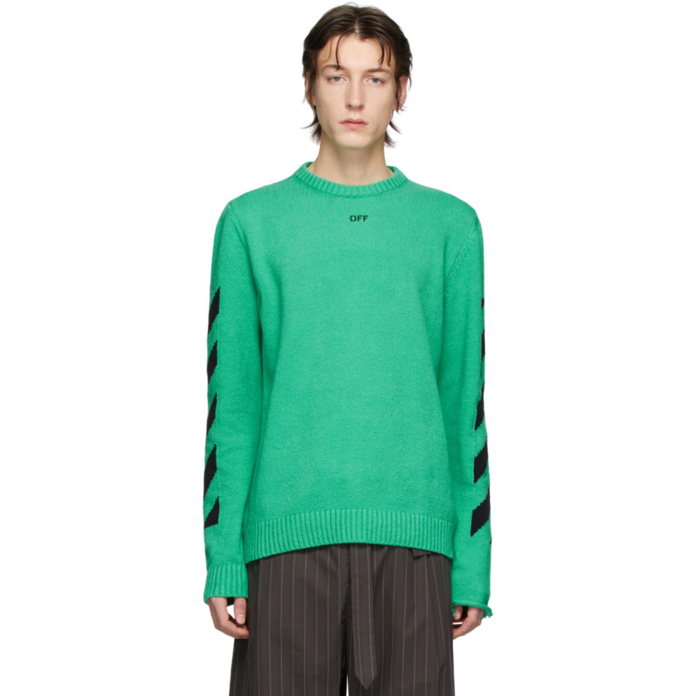 グリーン Diag セーター