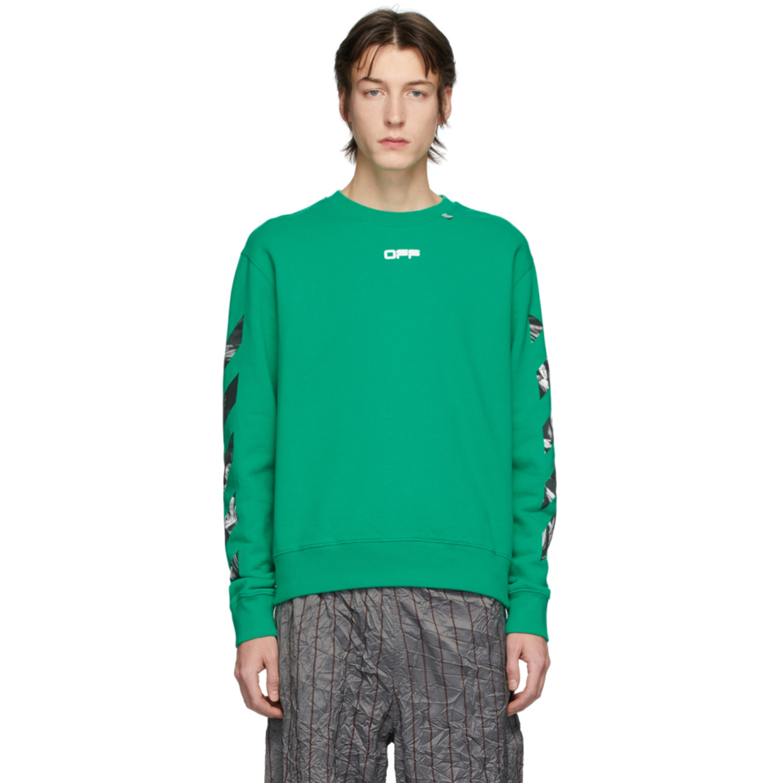 グリーン Caravaggio スクエア アロー スリム スウェットシャツ