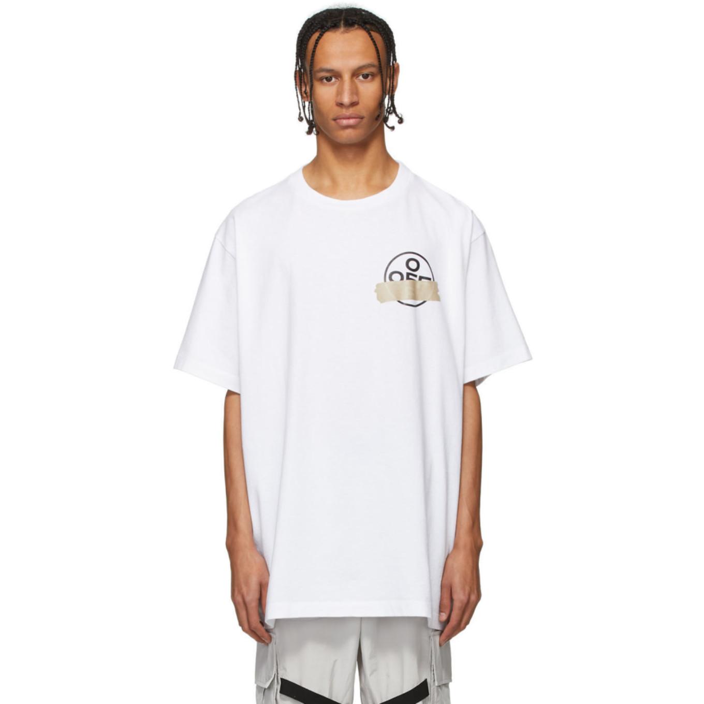 ホワイト テープ アロー T シャツ