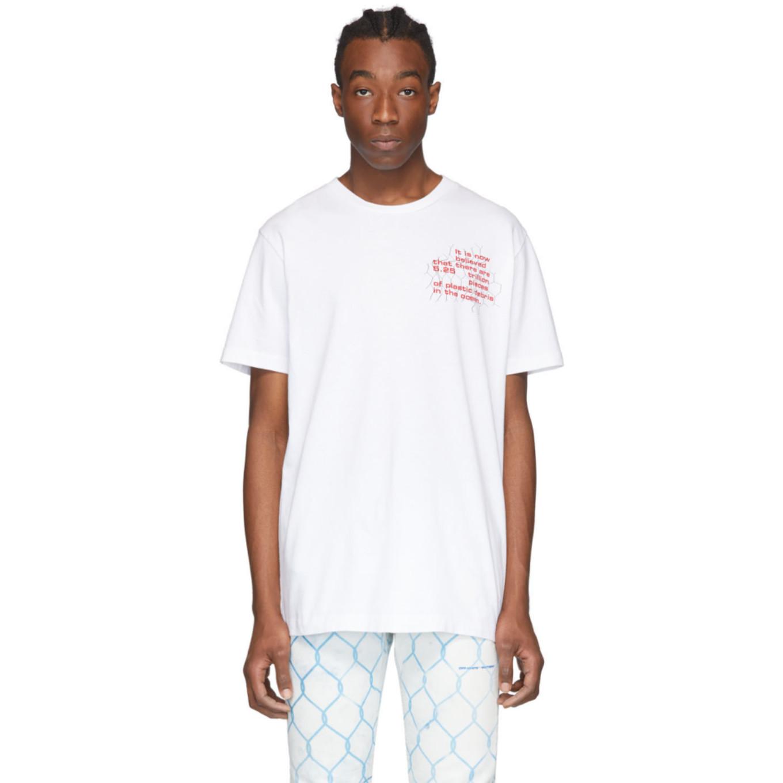 ホワイト Ocean Debris T シャツ