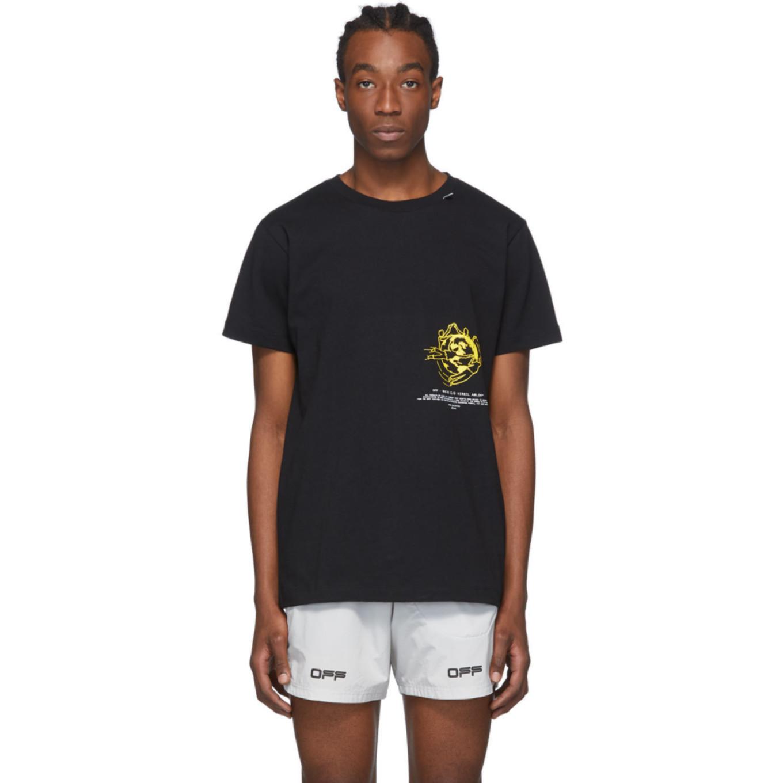 ブラック マルチ シンボル T シャツ