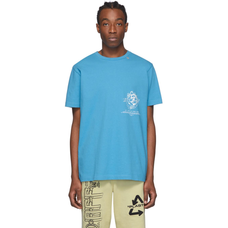 ブルー マルチ シンボル T シャツ