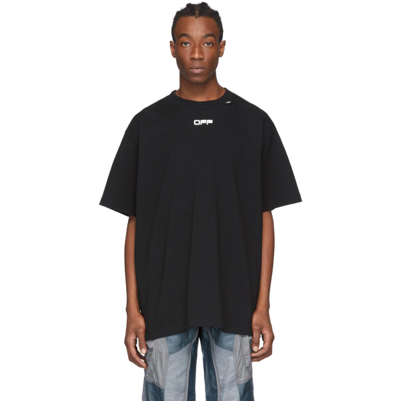 ブラック Caravaggio アロー オーバー T シャツ