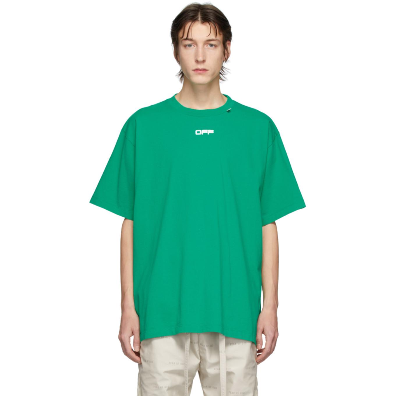 グリーン Caravaggio スクエア オーバー T シャツ