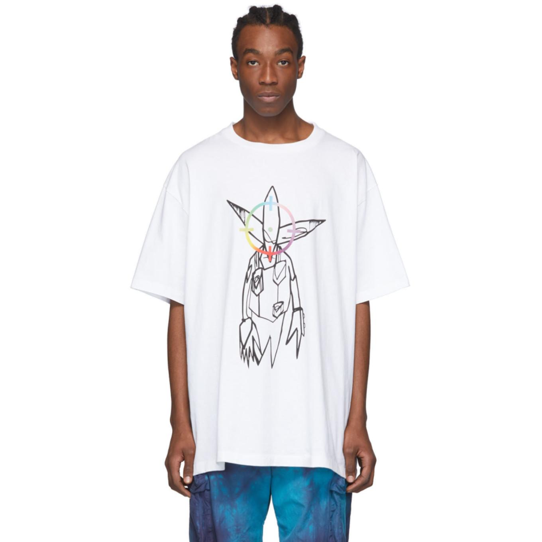ホワイト Futura Alien T シャツ