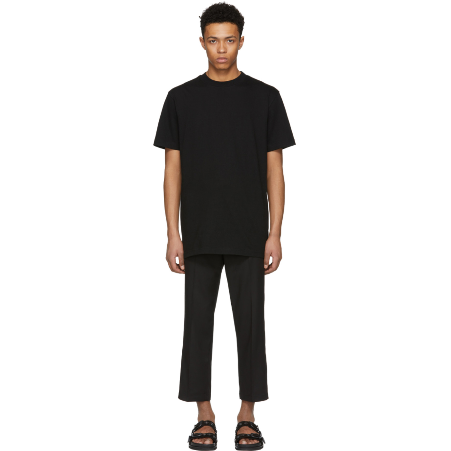 Black Double Tape T Shirt by D By D