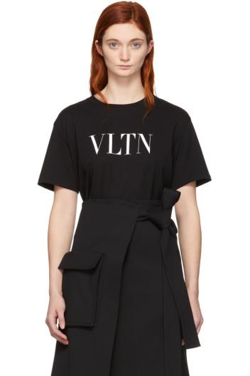 Valentino - Black 'VLTN' T-Shirt