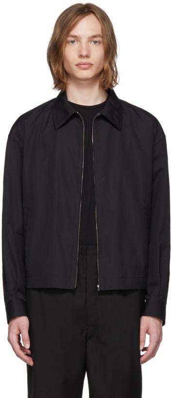 Lemaire men's Black Poplin Bomber Jacket