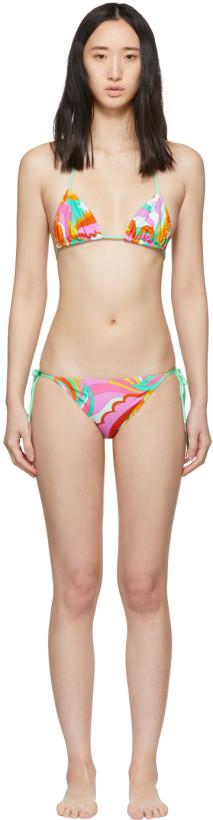 Emilio Pucci Multicolor Acapulco Triangle Bikini
