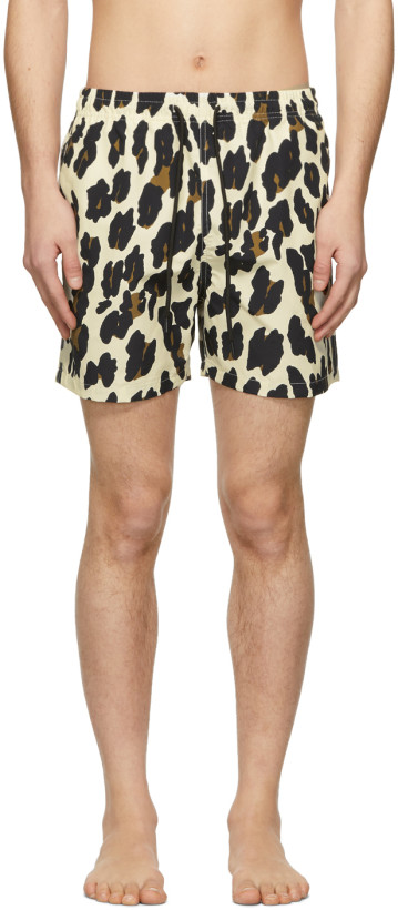 Solid & Striped Off-White Leopard Classic Swim Shorts