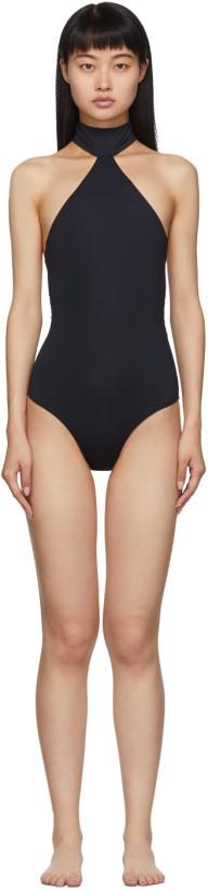 Rudi Gernreich Black Choker One-Piece Swimsuit
