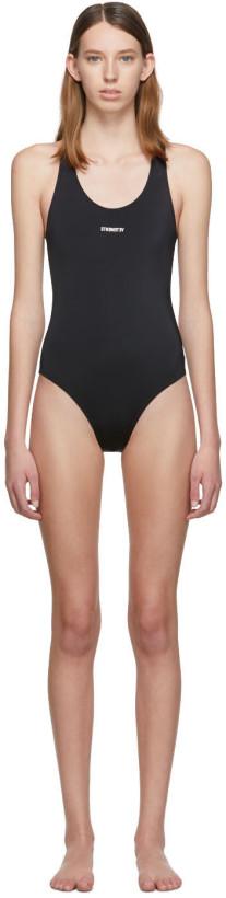 Vetements Black Logo Baywatch One-Piece Swimsuit