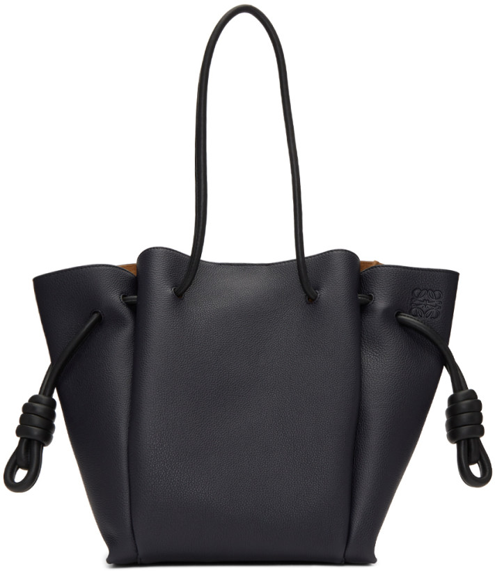 Loewe Navy Small Flamenco Knot Tote Bag