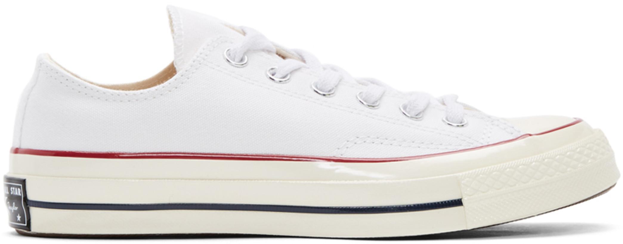 Converse ホワイト Chuck 70 ロー スニーカー メンズ ¥9460.5 JPY