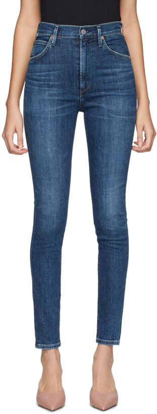 Citizens of Humanity Indigo Chrissy High-Rise Skinny Jeans