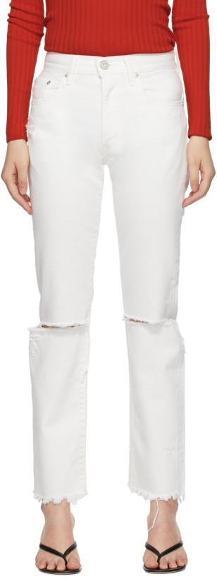 Moussy Vintage White Wagoner Straight Jeans