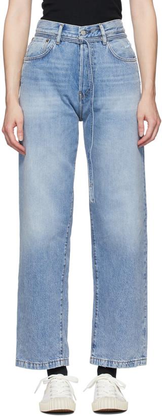 Acne Studios Blue Blå Konst 1991 Vintage Trash Jeans