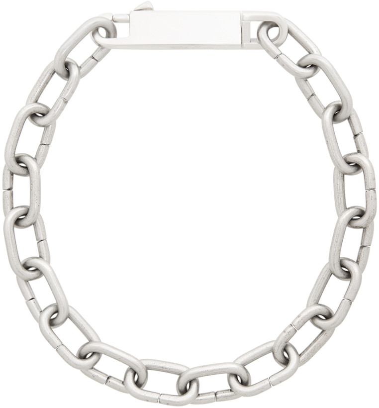 Rick Owens Silver Easy Choker Necklace