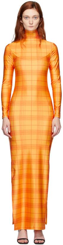 Supriya Lele Orange High Slit Madras Dress