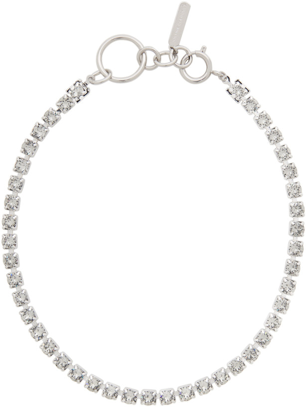Justine Clenquet Silver & Grey Kelsey Choker