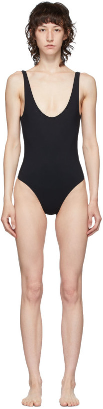 Lido Black Low Back Sette Olympic One-Piece Swimsuit