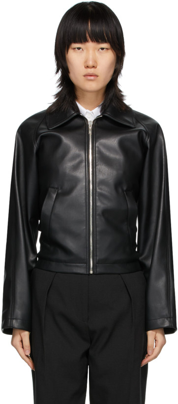 We11done Black Faux Leather Jacket