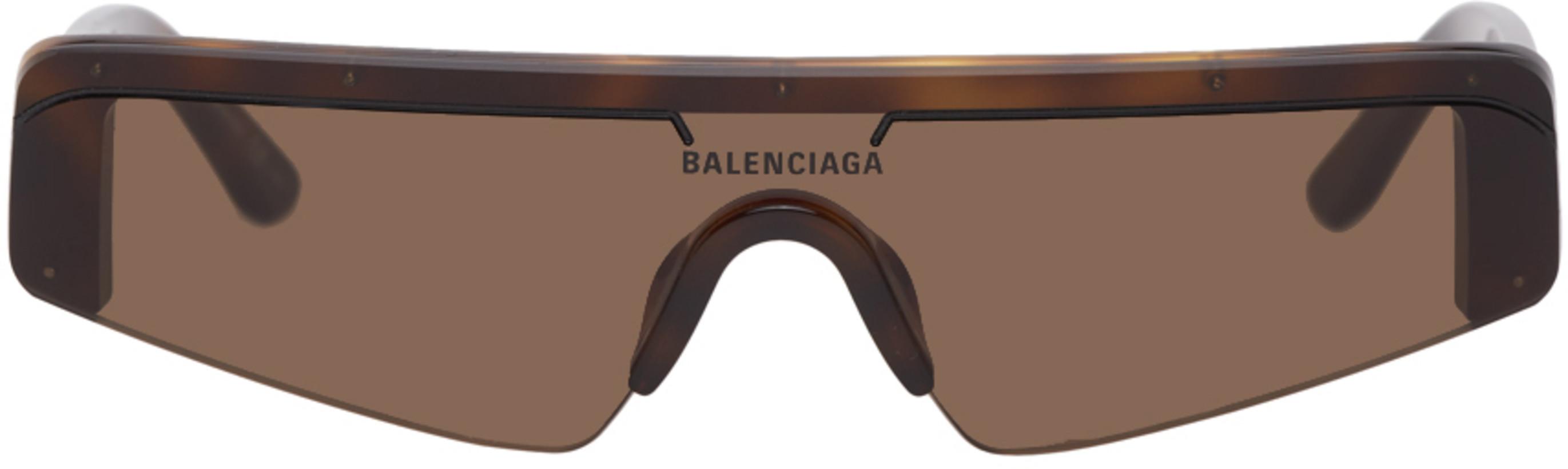 Balenciaga Brown Mask Sunglasses