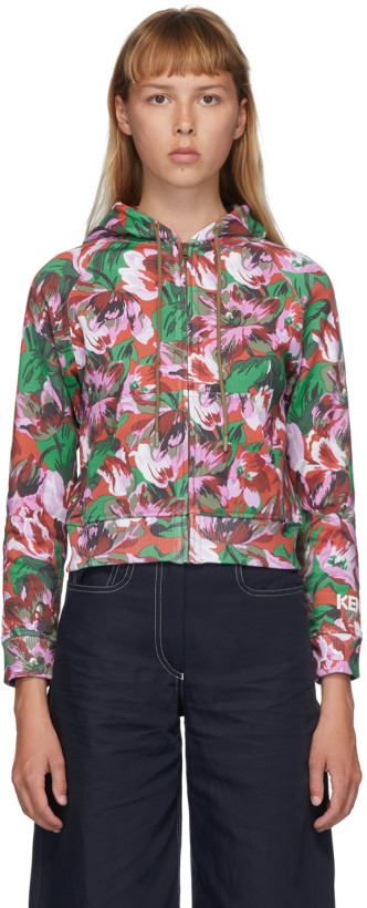 Kenzo Pink Vans Edition Floral Hooded Jacket