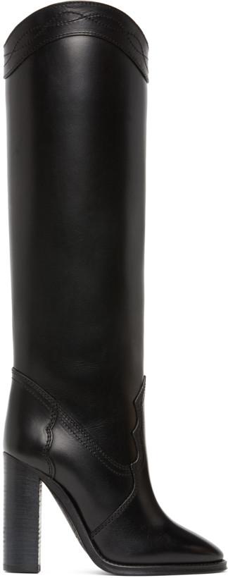 Saint Laurent Black Kate 110 Boots