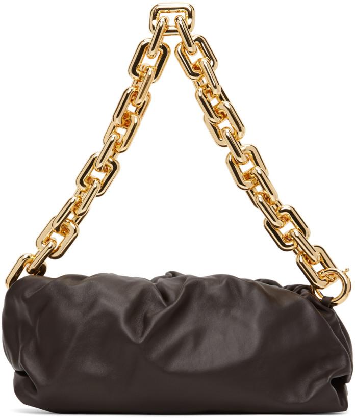 Bottega Veneta Brown 'The Chain Pouch' Clutch